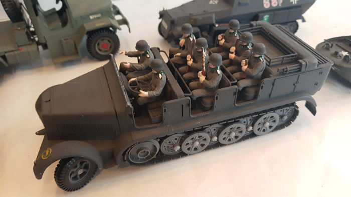 Diverse o a Tamiya - Military vehicles & personnel US & Wehrmacht