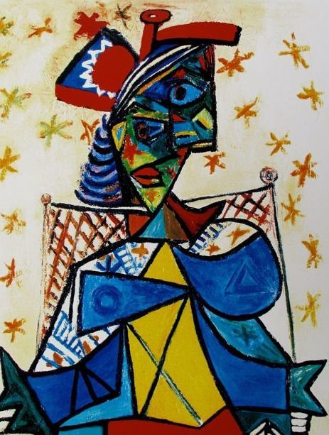 Pablo Picasso ( after ) - Woman with Red Hat