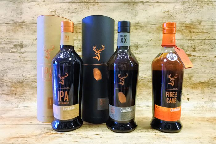 Glenfiddich Experimental series Project IPA, XX and Fire & Cane - 70cl - 3 bouteilles