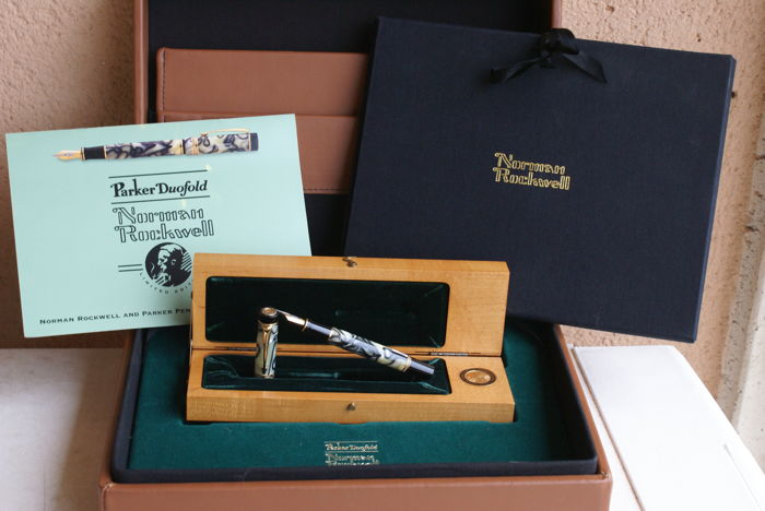 Parker - Norman Rockwell Limited Edition 18 kts Fountain pen