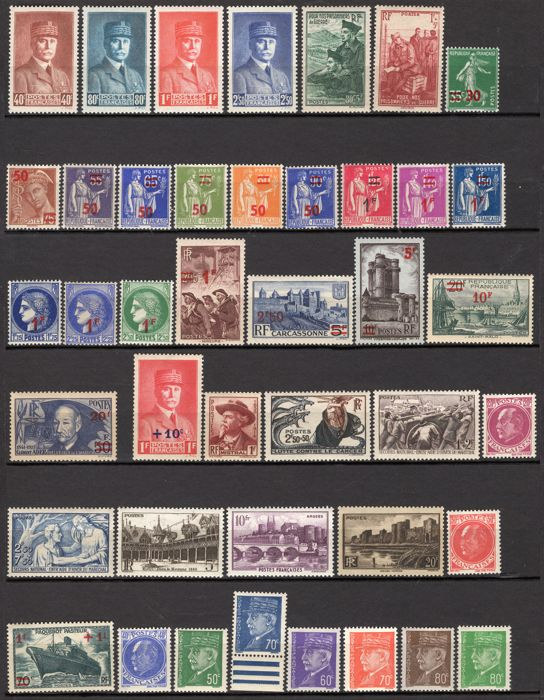 Frankrijk 1941/1943 - 3 full years of stamps - Maury 470 à 598