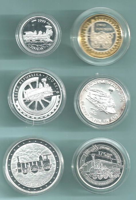 World - Lot diverse munten 1983/2010 (6 verschillende)  - Silver