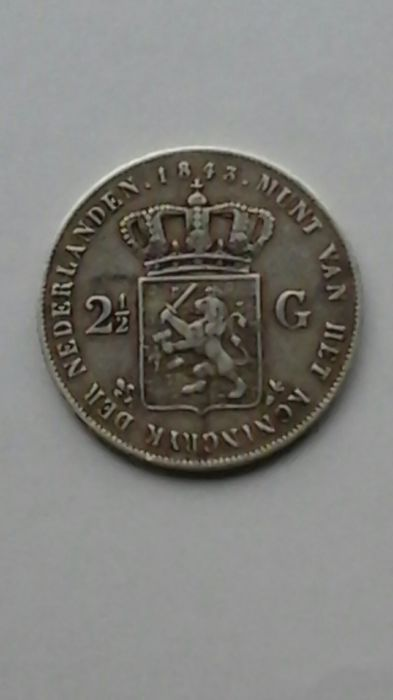 The Netherlands - 2 1/2 Gulden 1843 Willem III - Silver