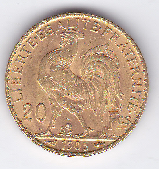 20 Francs 1905 Marianne - Or