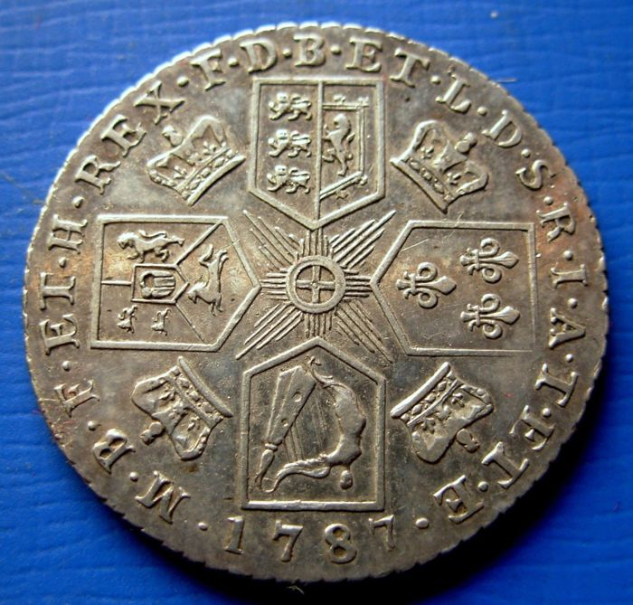 Great Britain - 1 Shilling 1787 Georges III   - Silver