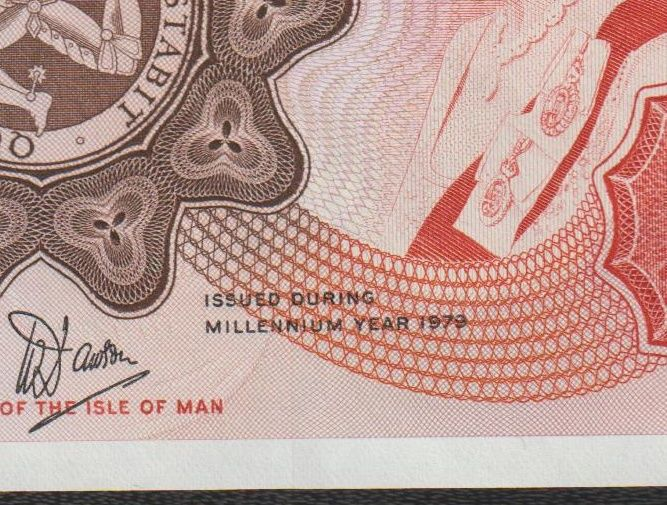 Isle of Man - 20 Pounds 1979 - Commemorative issue - Millennium Year 1979 - Pick 32