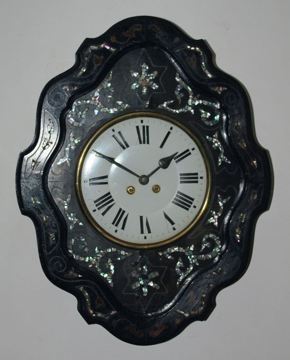 French Oeil de Boeuf - Mother of pearl, Wood - Second half 19th century