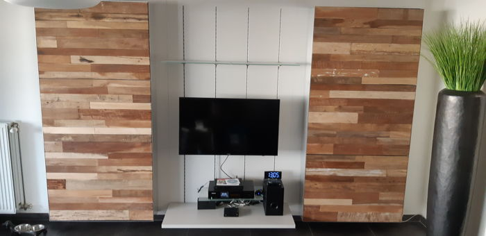 Handcrafted Floating Wall Unit