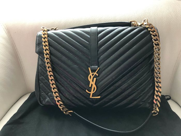 e56fa525ad73 Yves Saint Laurent - College Monogram Bag Matelasse Chevron Shoulder bag