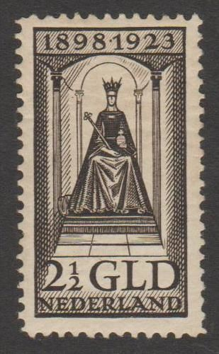 Netherlands 1923 - Government Jubilee Wilhelmina - NVPH 130