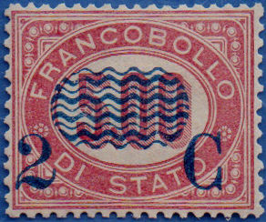 Italy Kingdom 1878 - Service with overprint 2c. on 5.00 - Sassone N. 35a