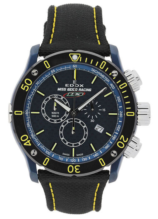 Edox - Chronoffshore 1 - Miss Geico Racing 113 - Limited Edition Chronograph - 10221 357BUJ BUJ113 - Heren - 2011-heden