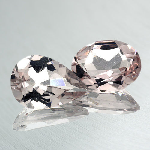 2 pcs  Morganite - 2.68 ct