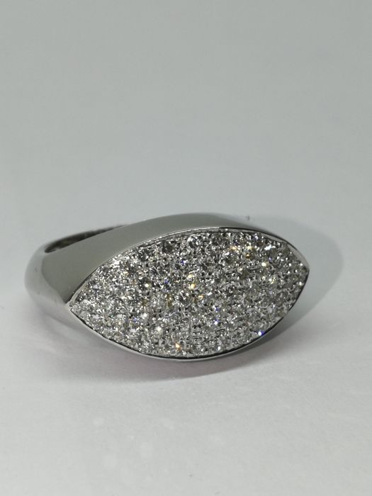 C & R Jewellery - 18 kt. White gold - Ring - 1.20 ct Diamond