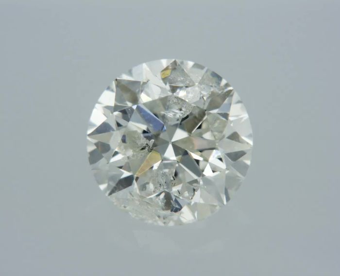 1 pcs Diamant - 0.75 ct - Rond - G - SI2