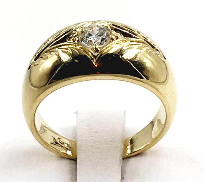 18 carats Or jaune - Bague - 0.35 ct Diamant