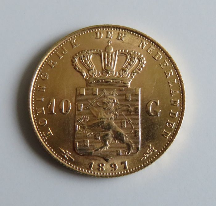 The Netherlands - 10 Gulden 1897 Wilhelmina - Gold