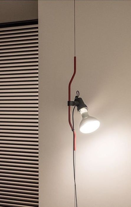 Achille Castiglioni - Flos - Parentesi Red suspension lamp