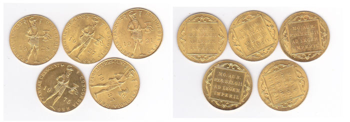 The Netherlands - Ducat 1921/1975 - 5x - Gold