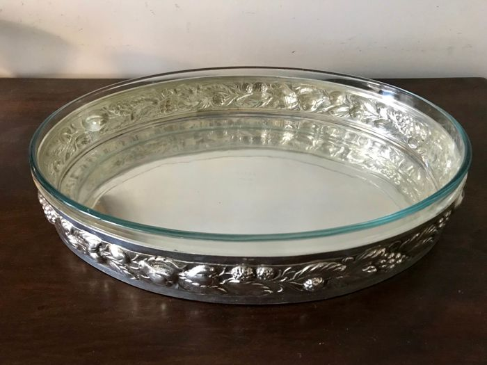 Tray for baking pan (1) - .800 silver - Florence - 1950-1999