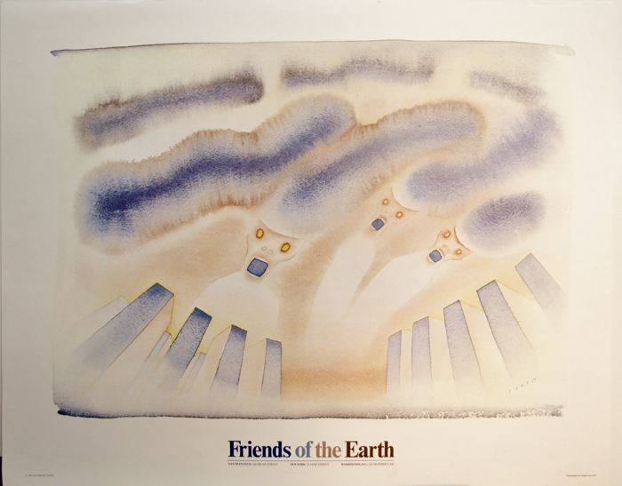 Jean-Michel Folon  - Friends of the earth - 1980