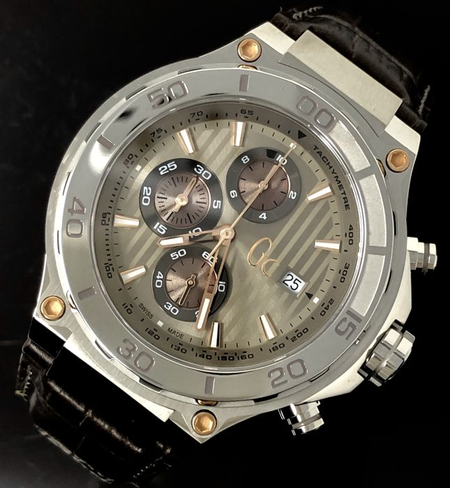 """Guess Collection - Chronograph GC Bold Sport Chic Anthrecite Swiss Made - X56005G1S """"NO RESERVE PRICE""""  - Men - 2011-present"""
