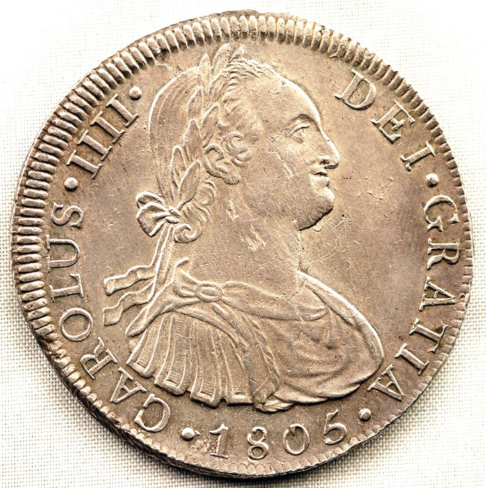 Spain - 8 Reales  - 1805 - LIMA - Carlos IV  - Silver
