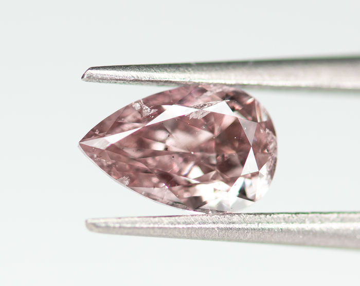 Diamond - 0.41 ct - Natural Fancy INTENSE Purplish Pink - SI2