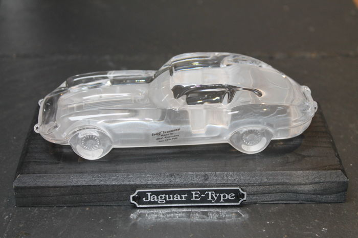 Decorative object - Hofbauer - Jaguar E Type Glass Desk Display Ornament Paperweight - 1980 (1 items)