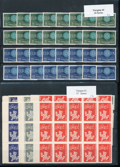 Europe 1960/1992 - CEPT: Southern Europe: 54 cards with 832 series