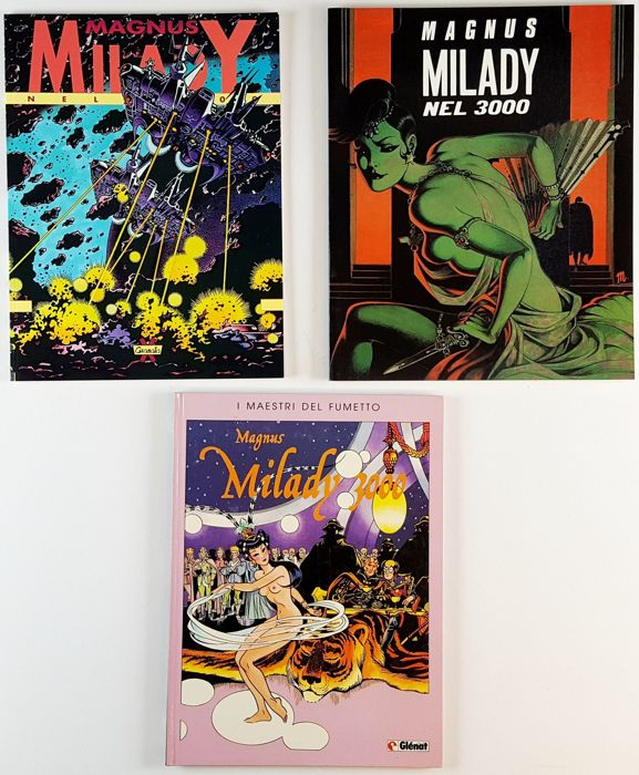 Milady nel 3000 - 3x album - First edition - (1985/1992)