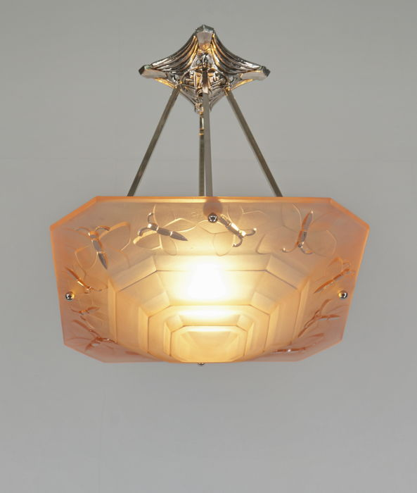 Degué - French Art Deco chandelier, Hängelampe