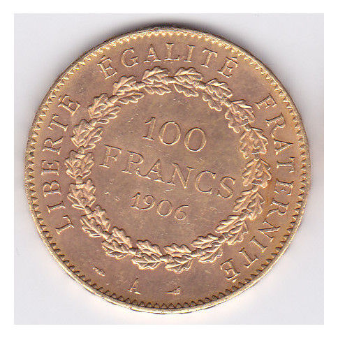 France - 100 Francs 1906-A Genius - Gold