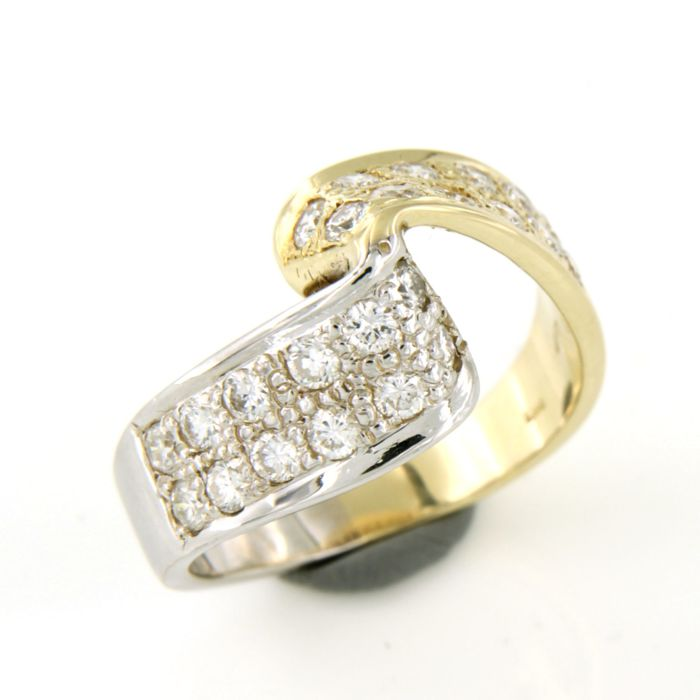 14 kt. Gold, White gold - Ring - 0.80 ct Diamond