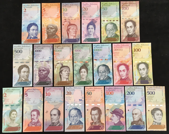 Venezuela - 21 Different banknotes 2012-2018