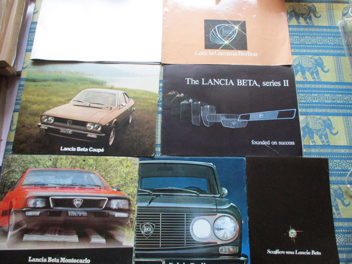 Brochures / Catalogues - Lancia - Beta/Fulvia/Gamma/Monetcarlo - 1971-1977
