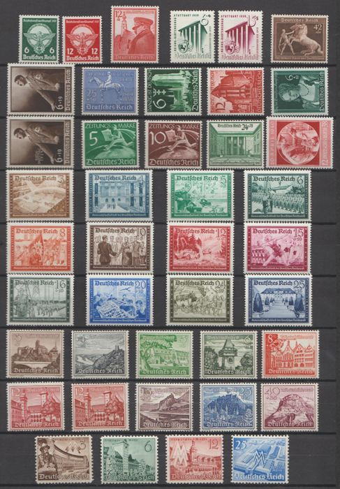 German Empire 1939/1945 - Selection 1930s-1940s between Michel 689 and 910