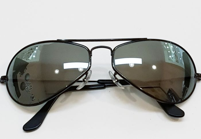 Ray Ban Bausch & Lomb - Aviator Air Boss - Black with mirror lenses - 1990s - Very rare - Excellent condition