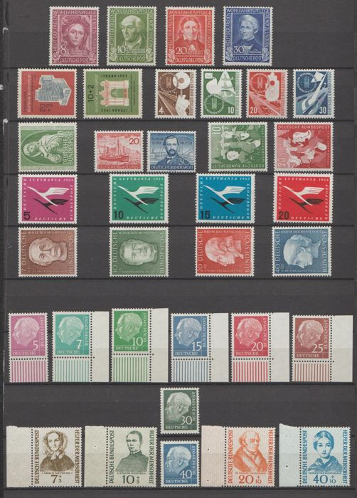Germany, Federal Republic 1949/1955 - Selection between Michel 117 and 260y