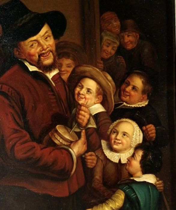 After Frans Hals (1582-1666) (by Judith Leyster?) - The Rommelpot Player -  Catawiki