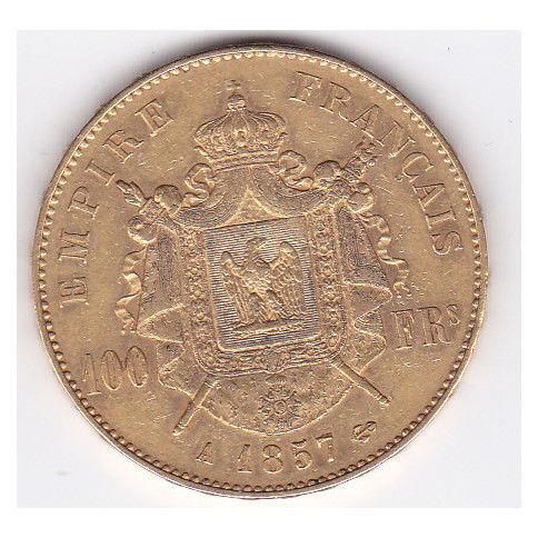 France - 100 Francs 1857-A Napoleon III - Gold