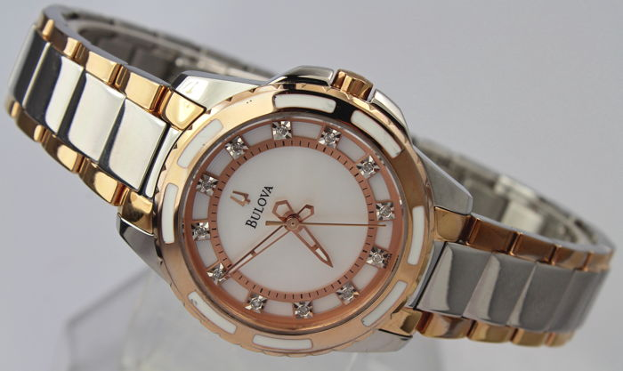 Bulova - Rose Gold Diamond 'NO RESERVE PRICE'  - Excellent Condition - Dames - 2011-heden