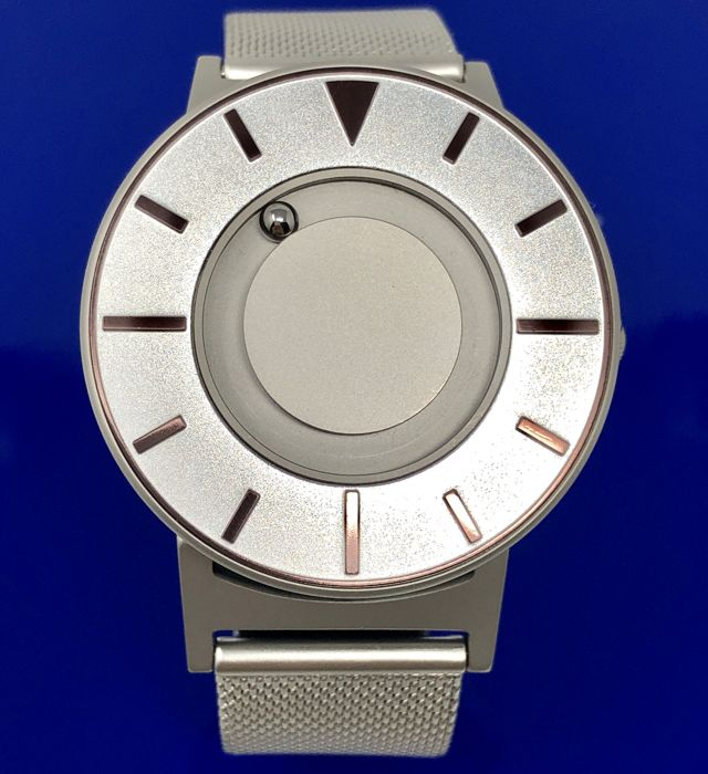 Eone - Bradley Compass Iris Silver with Mesh Strap Swiss Movement  - BR-COM-IRIS2 - Unisex - Brand New