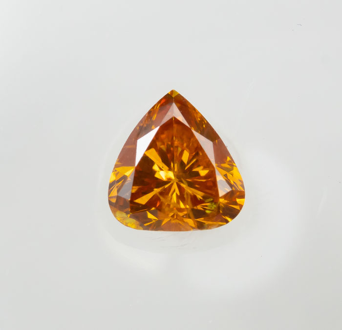 Timantti - 0.32 ct - Luonnollinen Fancy VIVID Orange - SI2  *NO RESERVE*