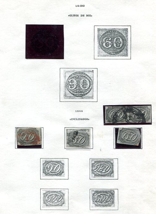 Brazilië 1844/1976 - collection of definitive stamps on 46 leaves.