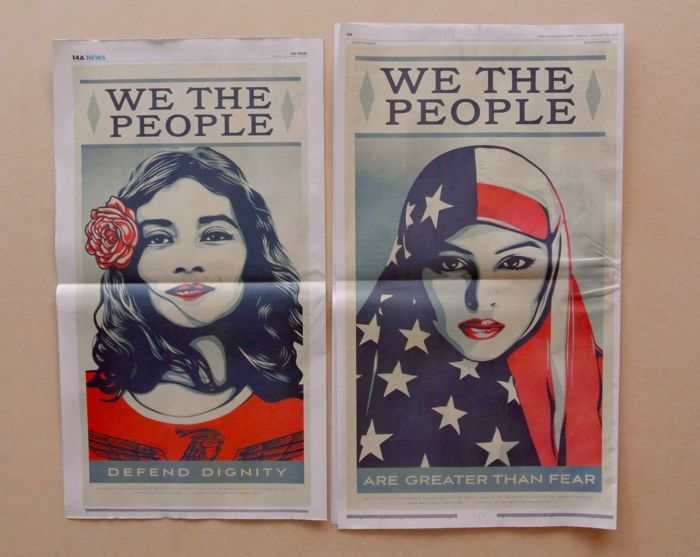 Ernesto Yerena Shepard Fairey We The People Are Greater Than Fear Vinyl Sticker