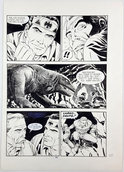 Tex n. 349 - Civitelli - original page  - First edition - (1989)