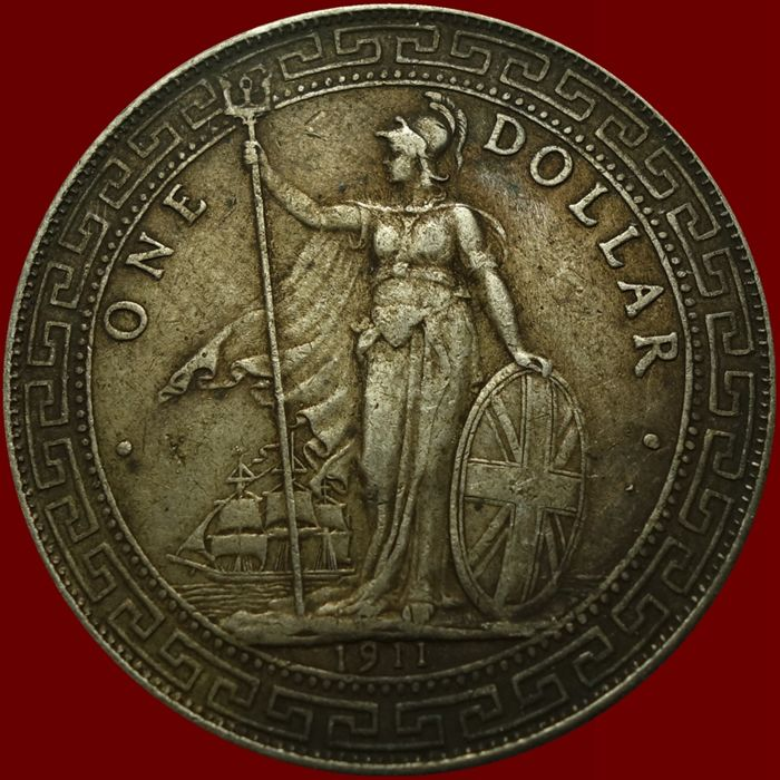 Great Britain - Trade Dollar 1911 - Silver