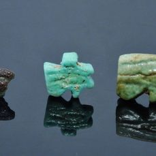 Three Egyptian Faience Eye Of Horus Amulets - (3)