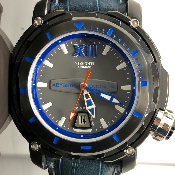 """Visconti - Abyssus Full Dive 1000 Blue Croco """"NO RESERVE PRICE"""" - KW51-02 - Heren - BRAND NEW"""
